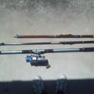 釣竿セット(3本とリール1ヶ)