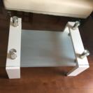 白☆ローガラステーブル