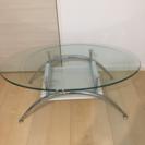 【未使用】お洒落なガラスローテーブル