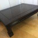 紫檀調のローテーブル