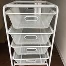 【中古】IKEA イケア ALGOT/アルゴート 4段収納スチールカゴ