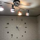 シーリングライト 4灯 LED電球対応 リモコン付