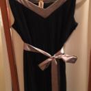 黒ドレス★エレガント★プリーツ