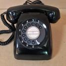 ☆日本電信電話公社 600-A2 アンティークレトロ黒電話機◆昭...