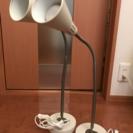 IKEAの照明、KVARTワークランプホワイト2個セット