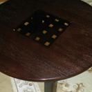 木製丸テーブル 半径77cm