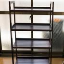 【格安】オシャレな木製 4段棚