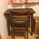 木製ワークデスク&椅子【車で取りに来て下さる方】
