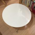 折りたたみ可能!白いローテーブル