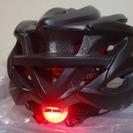 新品◆サイクルヘルメット テールライト付バイザー付 マットブラック...