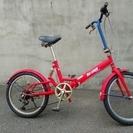 ★商談中!!USED・街乗り用の赤い自転車・サビがあります★