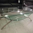 ガラス製リビングテーブル