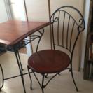 洋風テーブル、椅子のセット