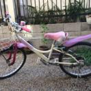 女の子向け22インチ6段変速自転車