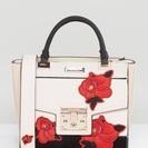 リバーアイランド薔薇刺繍ハンドバッグ