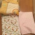 ベビープーさん掛け布団とベビーマットを0円で差し上げます