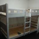 ★来店限定★ホワイト 木製2段ベッド