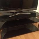 テレビボード ブラック幅80cm