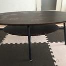 リビングテーブル 楕円形 ダークブラウン