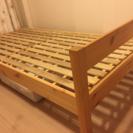 無印良品のパイン材シングルベッド