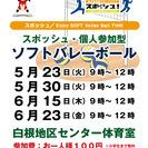 【個人参加型ソフトバレーボール】2017/6/15(木)9時~12...
