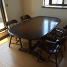 飛騨産業 ダイニングテーブル 椅子4脚