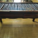 ★無料!アジア雑貨屋で購入した木製アンティークテーブル