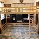 【お引取り限定・美品!】受注生産による木製ロフトベッド 展示品 値...