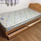 シングルベッド☆フレーム、マットレス