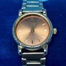 送料無料(e7)電池交換済 シチズンQQ ゴールドレディース腕時計...
