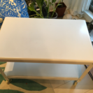 コーヒーテーブル 白 キャスター付 IKEA 42 *70高さ 48
