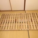 【夏の眠りを快適に♬】★ベルメゾン・折りたたみ式すのこベッド★土日...
