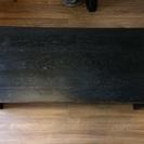 ローテーブル 木目調 ブラック