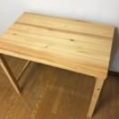 急募!無印良品 折りたたみ式パイン材テーブル