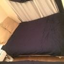 脚付きマットレス(ダブル) 掛け布団  枕 セット 半年使用