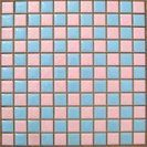昔ながらのタイル リフォームに ピンク、水色、白25mm