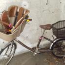 チャイルドシート付き自転車