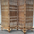 籐製 4連パーテーション 仕切り 高さ159cm×幅176cm 和...