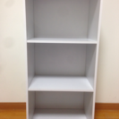 3段カラーボックス【白】