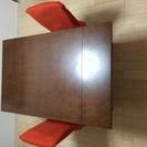 無印良品 テーブル イス二脚 セット