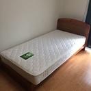 美品 グランツ ベッド シングルベッドフレーム マットレス付き
