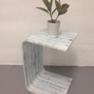 2WAY サイドテーブル  白板風  飾り棚