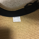 携帯できる麦わら(?)帽子:美品
