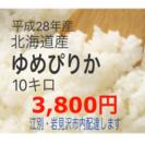 北海道産ゆめぴりか10キロ☆農家直送