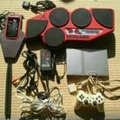 PS2 7000盤 本体  ドラムコントローラー スタンド付き 中...