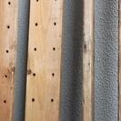 木材板 4枚 組み立て棚のたて柱だったもの 全面にほぞ穴加工あり ...