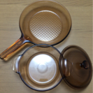 VISION コーニング 耐熱ガラス鍋 2点セット