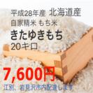 北海道産 もち米 きたゆきもち 20キロ☆農家直送