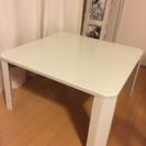 シンプル白折りたたみローテーブル