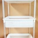 3段収納 ランドリー収納 設置も簡単!すっきり収納!◆洗面所にぴったり